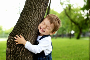 Treehugger Boy Hugging Tree